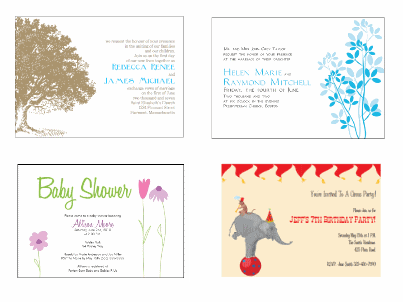 making your own invitations free