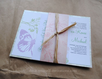 DIY butterfly wedding Invitations suite