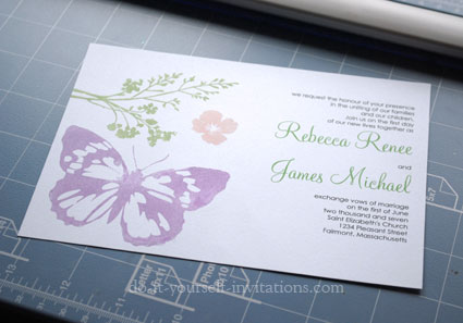 Diy butterfly wedding invitations solutioingenieria Image collections
