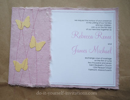 DIY Couture Butterfly Wedding Invitations