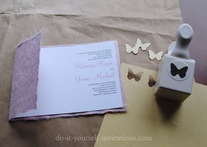 Create Couture Butterfly Wedding Invitations