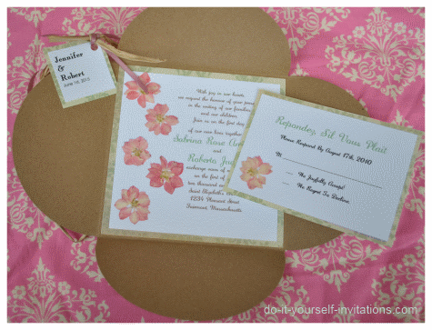 homemade wedding invitations