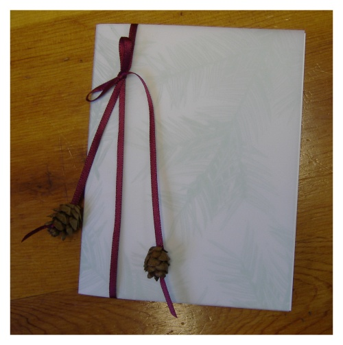 Christmas wedding invitations Materials used to make these Pinecone Wedding