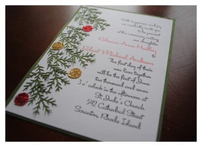 DIY Christmas Wedding Invitations