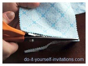 make cloth wedding invitations