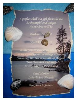 Message In A Bottle Destination Beach Wedding Invitation