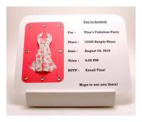 origami dress invitations