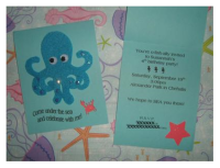 under the sea birthday invitations