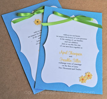 Daisy wedding invitations diy ideas and templates for Do it yourself wedding invitations templates