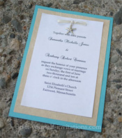 Beach destination wedding invitations