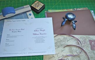 make passport wedding invitations