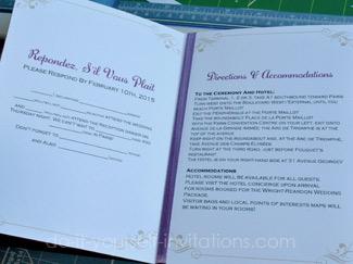 make DIY destination wedding invitations