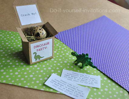 dinosaur egg invitations