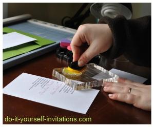 making wedding invitations