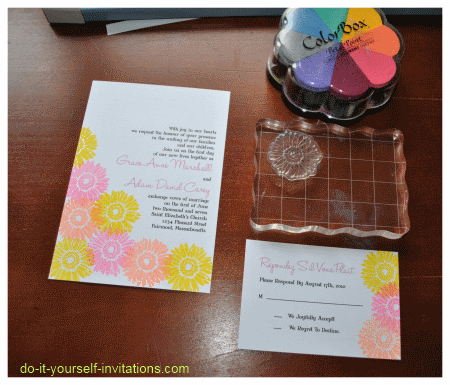diy gerbera daisy wedding invitations