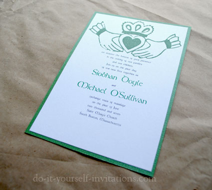 Diy irish wedding invitations make your own and save for Do it yourself wedding invitations templates