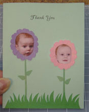 unqiue baby gift thank you cards