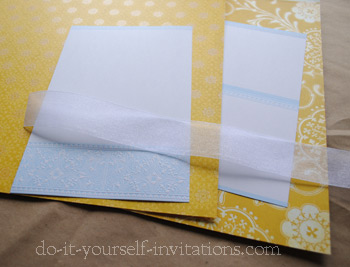 those cheap diy invites into a chic semi handmade invitation suite