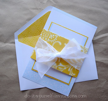 gallery for diy wedding invitations kits