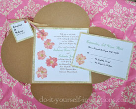 Ideas And Tutorials To Make Your Own Wedding Invitations