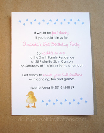 duckie invitations