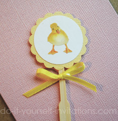 duckie duckling cupcake toppers
