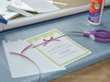 homemade diy easter invitations