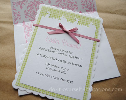 Diy easter invitations ideas homemade diy easter invitations solutioingenieria Images