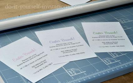 homemade diy easter invitations