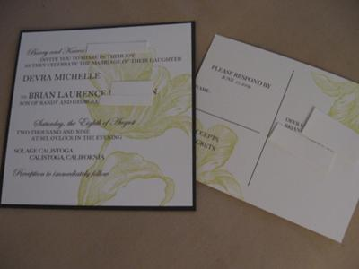 Eco-Flower Invitations and RSVP postcards