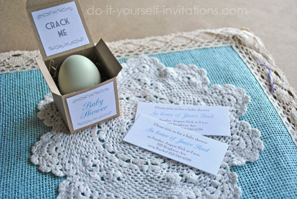 egg baby shower invitations