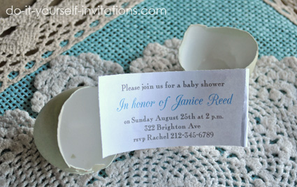 Unique Baby Shower Egg Invitations