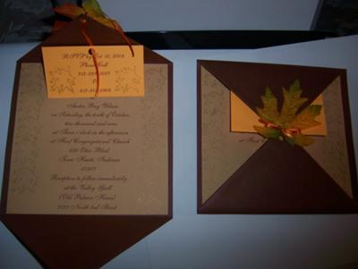 fall themed wedding invitations, Wedding invitations