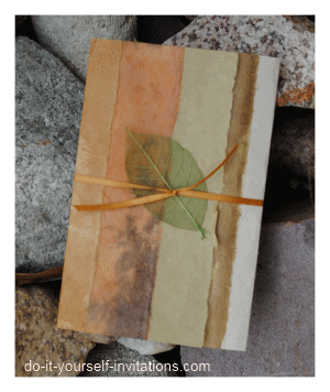 handmade paper fall wedding invitations