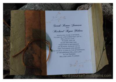 do it yourself wedding invitations autumn wedding invitations 3631