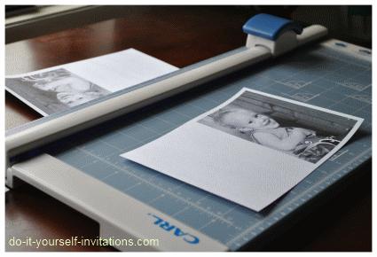 making photo invitations