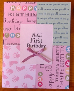 patchwork first birthday invitations