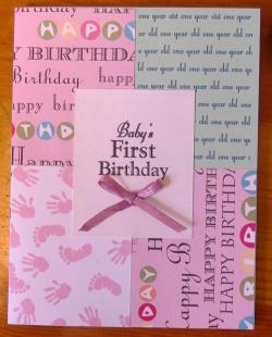 patchwork first birthday invitations