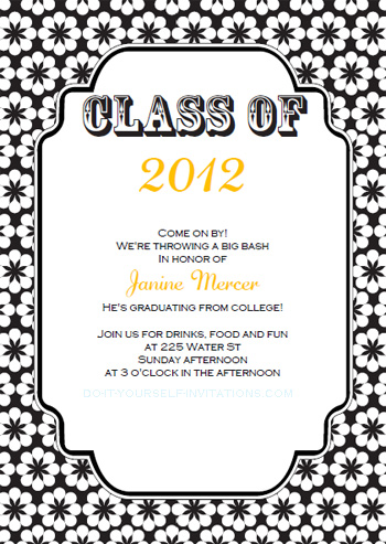 Download our free printable graduation invitations template