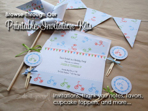 Printable Birthday Invitations Kits