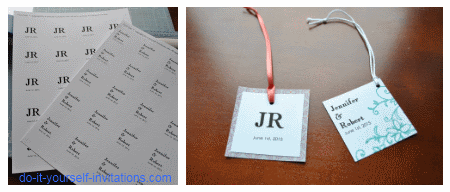 make wedding favor tags