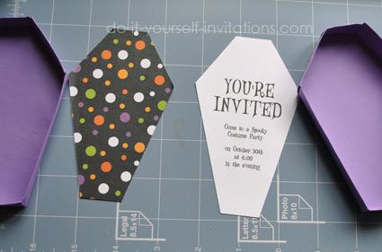 Free Printable Halloween Invitations: Unique Coffin Invites With ...
