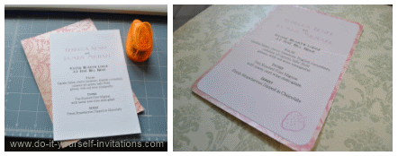 diy wedding invitation menu