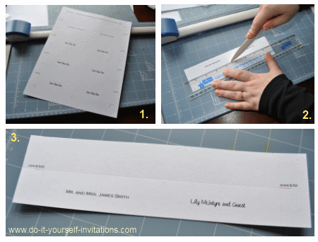 Wedding Invitation Templates Create Easy DIY Invites - Card template free: avery place card template