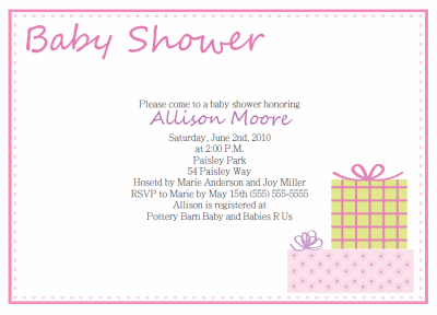 Wonderful Free Printable Baby Shower Invitations Regarding Baby Shower Invite Samples