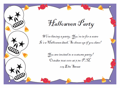 Printable Halloween Party Invitations – Costume Party Invitations Free Printable