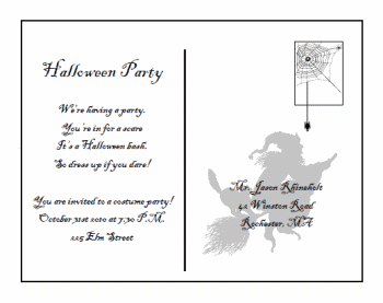 free postcard invitation templates