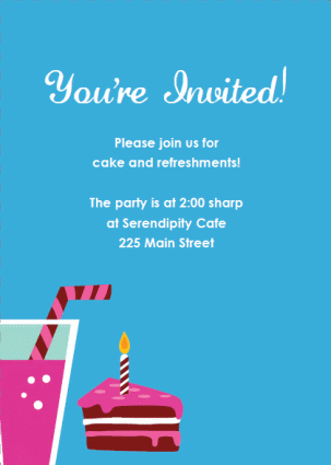 Printable Party Invitations  Invitation For Party Template