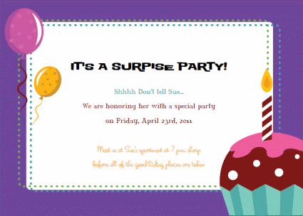 Free Printable Party Invitations Templates – Retirement Party Invitation Template Free