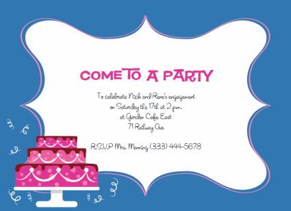 Free Printable Party Invitations Templates – Free Party Invitation Template Word